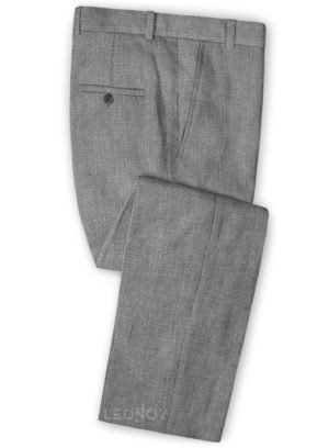 Повседневные утонченные серые брюки шелка, шерсти и льна – Solbiati