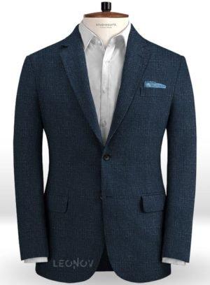 Пиджак королевский темно-синий из льна – Solbiati