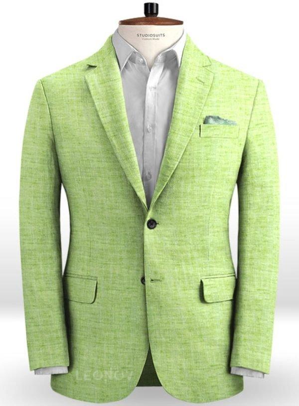 Пиджак из льна весенний ярко-зеленый – Solbiati