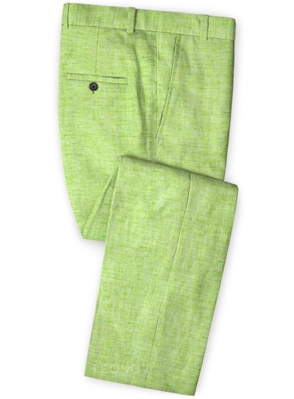 Брюки из льна весенние ярко-зеленые – Solbiati