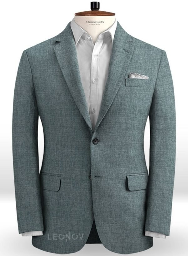 Летний пиджак из льна каменный серый– Solbiati