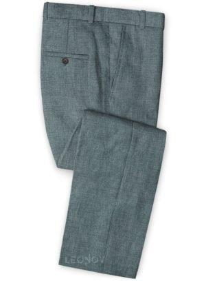 Летние брюки из льна каменные серые– Solbiati