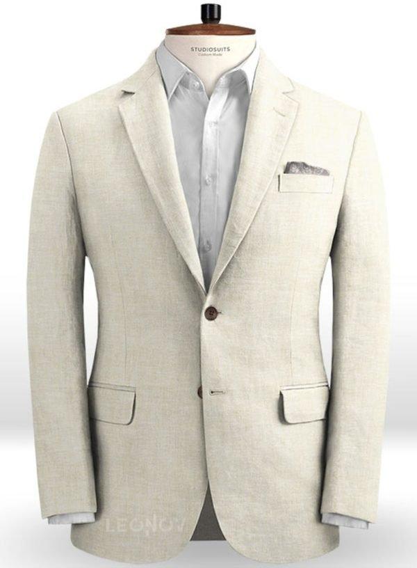 Летний белый пиджак из льна – Solbiati