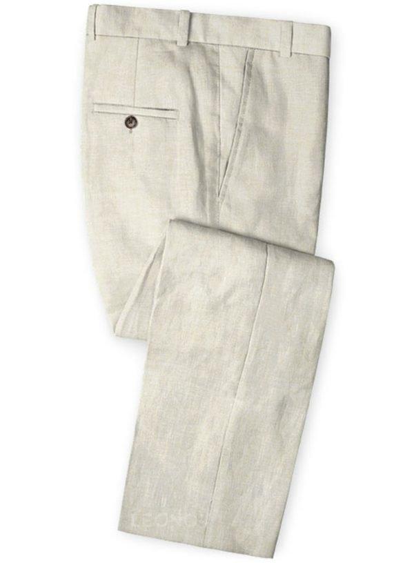 Летние белые брюки из льна – Solbiati