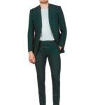 Темно-зеленый мужской костюм