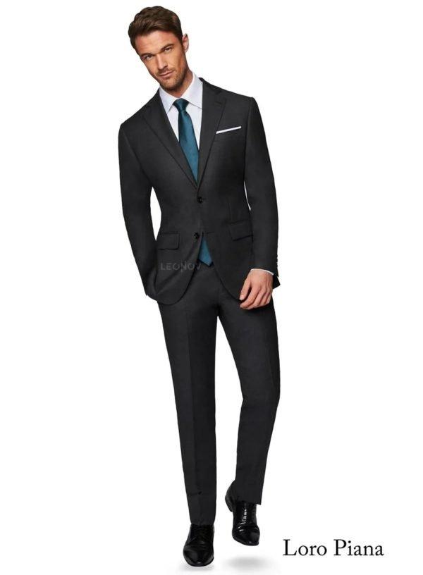 Классический угольно-серый мужской костюм – Loro Piano
