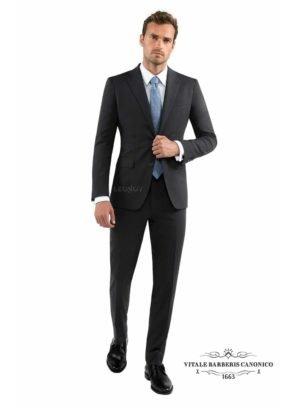 Угольно-серый мужской костюм
