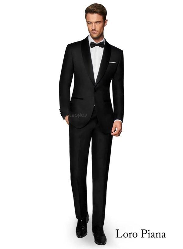 Классический черный мужской костюм