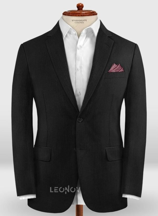 Классический деловой черный пиджак из шерсти – Zegna