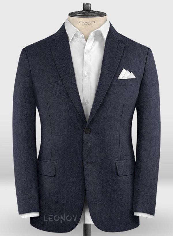 Повседневный темно синий пиджак из шерсти – Zegna