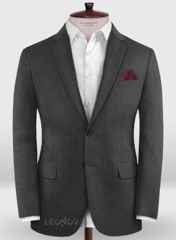 Повседневный темно серый пиджак из шерсти – Zegna