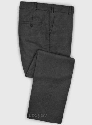 Повседневные темно серые брюки из шерсти – Zegna
