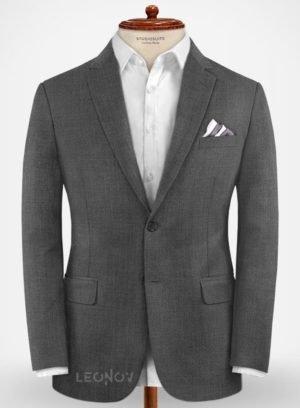 Повседневный серый пиджак из шерсти