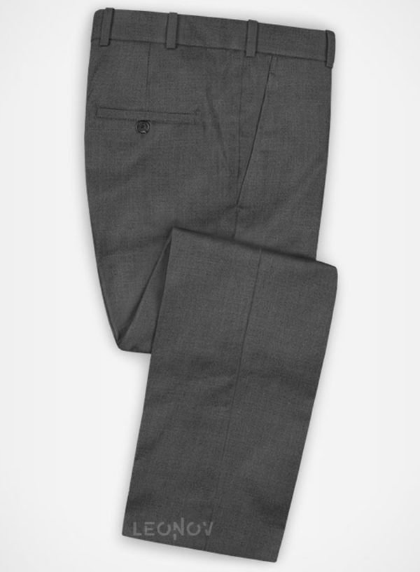 Повседневные серые брюки из шерсти