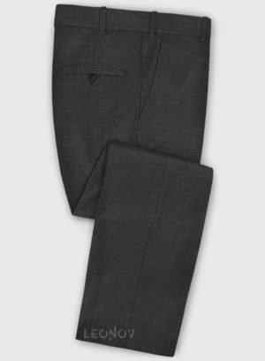 Деловые классические угольно-серые брюки из шерсти