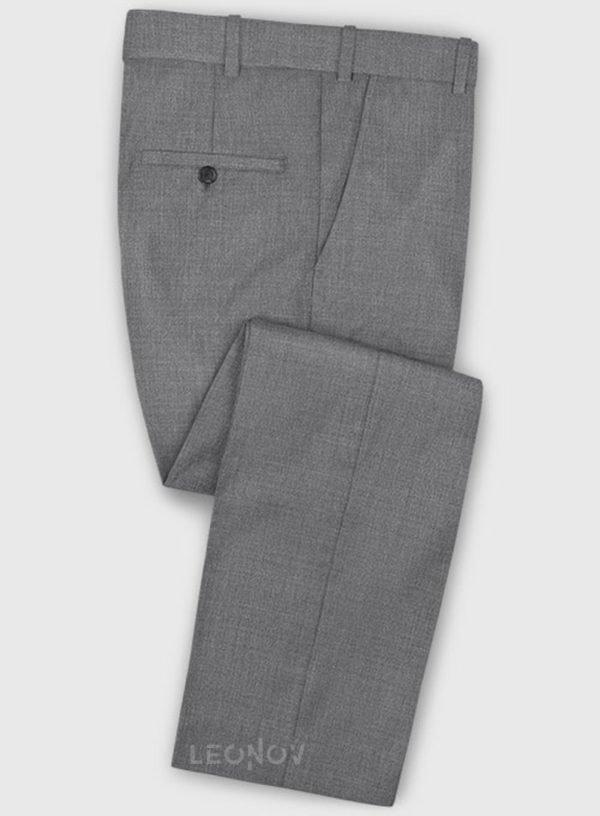 Деловые классические серые брюки из шерсти