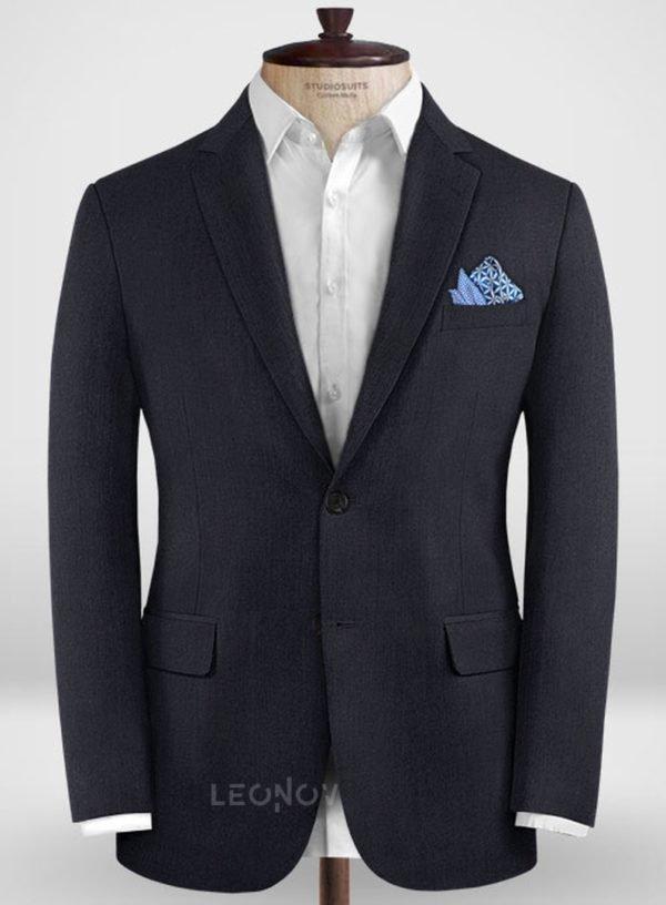 Классический темно-синий пиджак из шерсти – Zegna