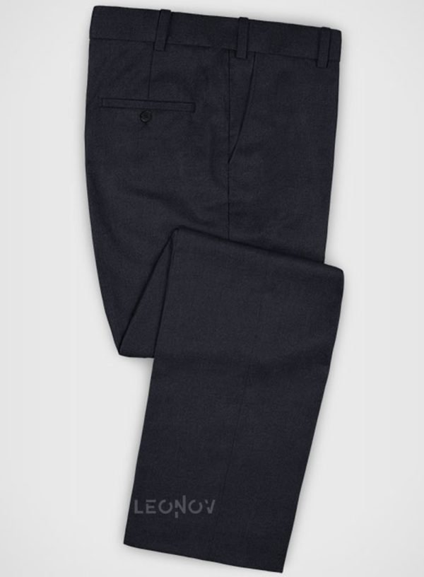 Классические темно-синие брюки из шерсти – Zegna