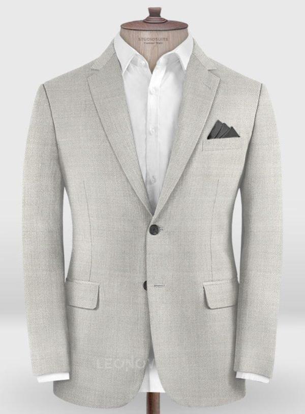 Классический светло-серый пиджак из шерсти – Zegna