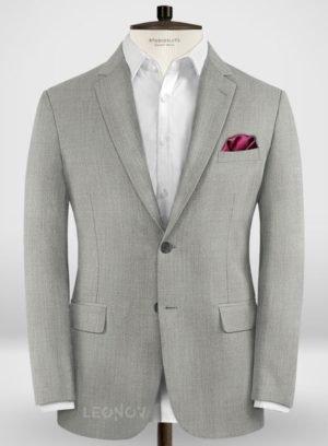 Деловой классический светло-серый пиджак из шерсти – Zegna