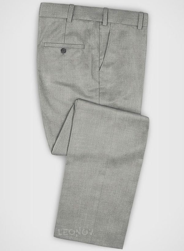 Деловые классические светло-серые брюки из шерсти – Zegna