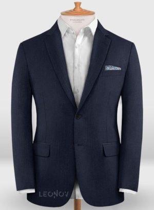 Деловой классический королевский синий пиджак из шерсти – Zegna