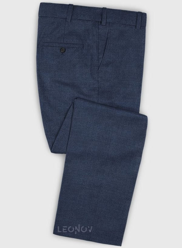 Деловые классические синие брюки из шерсти