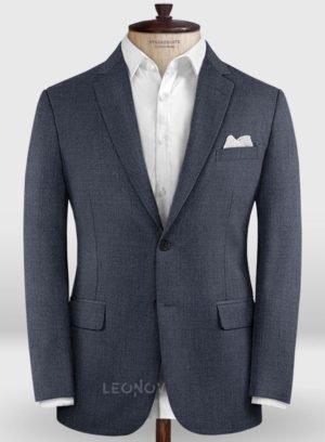 Деловой насыщенно синий пиджак из шерсти – Zegna